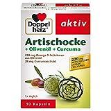 Doppelherz Artischocke + Olivenöl + Curcuma – Pflanzliches Nahrungsergänzungsmittel mit Artischocken- & Kurkuma-Extrakt sowie Omega 9-Fettsäuren – 1 x 30 Kapseln