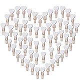 100 Stk Mini Holzklammern Herz Klammern Holz Deko Klein Wäscheklammern Dekoklammern Holzwäscheklammern Zierklammern (Weiß)