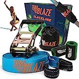 Trailblaze Slackline Kinder mit Baumschutz - Vollständiges Slackline-Set 18.5m für Anfänger – ideale Aktivität für Kinder und Familien im Freien - Einfach Aufzubauen Balancierseil
