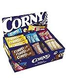 Corny Bestseller-Box, Thekendisplay mit Corny Big Schoko, Big Schoko-Banane, Milch Classic, nussvoll Erdnuss und Vollmilch, Haferkraft Cranberry-Kürbiskern, Crunch, free Schoko, 75 Riegel
