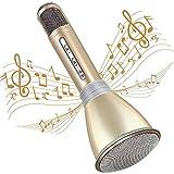 TOSING Mikrofon für Kinder, Bluetooth 4.2 Karaoke-Mikrofon Tragbare Handheld Karaoke Mic Home Party Weihnachten Geburtstag Spielzeug für Kinder (Gold)