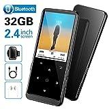 SuperEye 32GB MP3 Player Bluetooth 4.2 mit FM Radio und Voice Recorder,2.4 Zoll Sport MP3-Player mit Kopfhörer und Armband,Unterstützt bis 64GB TF Karte