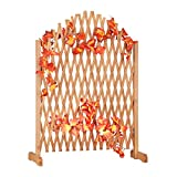 Relaxdays Rankgitter Holz, ausziehbar, freistehend, Garten, Balkon, Terrasse, Rankhilfe, HxBxT: 100 x 165 x 30 cm, braun