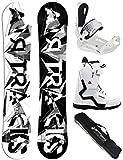 Airtracks Damen Snowboard Set/BWF Lady 155 + Snowboard Bindung Master + Snowboardboots Savage W 42 + Sb Bag