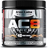 AC8 Xtreme Hadcor Pre Workout Booster Nahrungsergänzungsmittel MAXIMUM STRENGTH Pre-Workout Booster, 40 Portionen, 306 g (Frucht-Punsch)