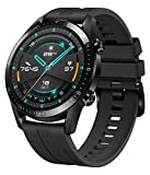 HUAWEI Watch GT 2 Smartwatch (46mm Full-Color-AMOLED, SpO2-Monitoring, Herzfrequenzmessung, Musik Wiedergabe&Bluetooth Telefonie, 5ATM wasserdicht, GPS) Matte Black [Exklusiv+5 EUR Amazon Gutschein]