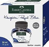 Faber-Castell 149839 - Tintenglas, Löschbar, 30 ml, Königsblau