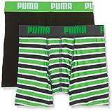 Puma Jungen Basic Boxer Printed Stripe 2p Boxershorts,grün( Classic Green),164 (Herstellergröße: 13-14 Jahre )