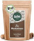 Muskatnuss Bio 10 - 12 Stück, 70g - Ganze Muskatnüsse - Handverlesen, Abgefüllt und kontrolliert in Deutschland (DE-ÖKO-005)