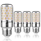 Yiizon LED M Glühbirne, E27, 12W, entspricht 100 W Glühlampe, 3000 K Warmweiß, 1200LM, CRI80 +, kleine Edison-Schraube, nicht dimmbar Kandelaber LED Glühlampen(4 PCS) (Warm Weiß E27)