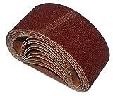 10 x HKB Gewebe-Schleifbänder für Bandschleifmaschinen, 75 x 457mm, Körnungen je 2x K40/60/80/120/180, Profi-Qualität für verschiedene Oberflächen, universell einsetzbar, Artikel-Nr. 20140