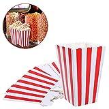 VAINECHAY 12 Stücke Candy Tüten Partytüten Set Popcorn Boxes Popcorn Tüten KleinGeschenktüten Weihnachten Party Geburtstag Hochzeit Geschenk Rot