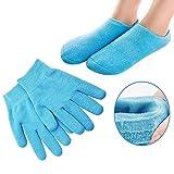 Pinkiou Soften SPA Gel Feuchtigkeitsspendende Handschuhe und Socken für Moisturize Cracked Skin Care (Blau)