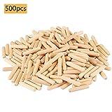Holzdübel Set | 8 mm x 40 mm Riffelholzdübel | 500er Packung | Langholzdübel Buche | Ideal geeignet für Dübelfräse Lamellofräse Meisterdübler
