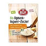 RUF Bio Agavenzucker mit Ingwer, ohne raffinierten Zucker, vegan, 10 g