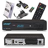 Ankaro 2100 DSR Sat-Receiver - HD Satelliten Receiver mit USB-Mediaplayer Funktion - DVB-S/S2 Receiver für Satellit - Astra & Hotbird vorinstalliert + Anadol HDMI Kabel (Mit PVR Aufnahmefunktion)