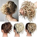 TESS Haargummi Haarteil Dutt mit Haaren Glatt struppige Haarknoten Hochsteckfrisuren günstig Haarverlängerung für Frauen 45g Honigblond/Lichtblond
