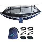 FE Active – Camping Hängematte aus leichtem Doppel-Nylon mit Moskitonetz für Outdoor Abenteuer, Zelten, Rucksackurlaub, Wandern, Radtouren, Reisen   In Kalifornien, USA entworfen