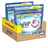 Lenor Waschmittel Pods All-in-1, Lenor Aprilfrisch mit Duft von Frühlingsblumen, 104 Waschladungen
