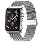 Waband Armband Kompatibel mit 38 mm 40 mm 42 mm 44 mm Apple Watch, Edelstahl Ersatzarmband mit Magnet, Kompatibel mit iWatch Serie 5/4/3/2/1