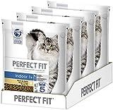 Perfect Fit Indoor 1+ – Trockenfutter für erwachsene Hauskatzen ab 1 Jahr – Reich an Huhn – Unterstützt die Vitalität – 4 x 1,4 kg