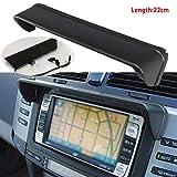 Semine Auto Blendschutz Radio Sonnenschutz GPS Navigation Motorhaube Kappe Maskenteile Schwarz