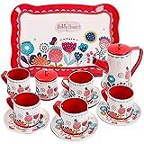 Buyger Dose Tee-Set Teeservice Kaffeeservice Geschirr Küche Spielzeug Rollenspiele für Kinder
