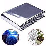 Garten-Pflanzfolie Mylar-Solarfolie Silber reflektierend Folie Wärmer Spezial Tuch für Gartenpflanzen Hydrokultur-Zubehör