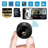 Mini Kamera, 1080P HD Mini Überwachungskamera Micro WiFi Akku Kleine Kamera mit Infrarot Nachtsicht, Bewegungserkennung und 32G SD-Karte Kabellose für den Außen- und Innenbereich