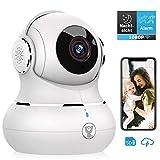 Überwachungskamera, Littlelf 1080P HD WLAN IP Kamera WiFi Kamera mit 360°Schwenkbare Baby Monitor, Zwei-Wege-Audio, Bewegungserkennung, Nachtsicht mit Alexa(Weiß)