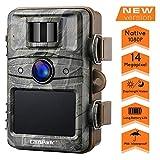 Campark Wildkamera 14MP 1080P No Glow Night Vision Überwachungskamera Jagdkamera Sicherheit Bewegungsaktivierte Kamera mit 2.4' LCD und IP66 Wasserdich