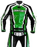 4LIMIT Sports Motorrad Lederkombi LAGUNA SECA Zweiteiler, Schwarz-Grün, Größe XL