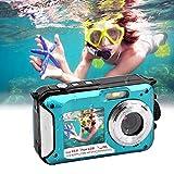 Womdee Unterwasserkamera 1080P Full HD Digitalkamera Wasserdicht 24 MP Videorecorder Selfie Camcorder Unterwasser Kamera Dual Screen DV 16X Kamera für Kinder Jungen und Mädchen