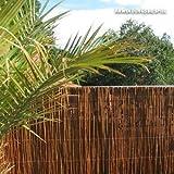 Videx-Sichtschutzmatte Weide, dunkel Provence, 90 x 300cm