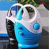 ZAK168 Wasserdichtes Duschradio, 3 V, 0,5 W, Dusche mit einstellbarem Volumen, AM-FM-Tastenlautsprecher, Bad-Duschlautsprecher, Drahtloses Radio mit oberem Griff