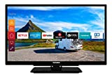 Telefunken XF22G501V 55 cm (22 Zoll) Fernseher (Full HD, Triple Tuner, Smart TV, Prime Video, 12 V, Works with Alexa)
