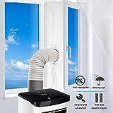 Fensterabdichtung Für Mobile Klimageräte,Klimaanlagen,Wäschetrockner und Ablufttrockner,Hot Air Stop zum Anbringen an Fenster,Dachfenster,Flügelfenster,AirLock,Fensterabdichtung Klimaanlage 400CM