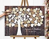 50x40 cm Leinwanddruck-Gästebuch Hochzeitsbaum Wedding tree Gästebuch Leinwanddruck Hochzeitsgästebuch auf Keilrahmen Hochzeitsgeschenk