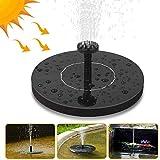 Nasharia Solar Springbrunnen, Solar Teichpumpe mit 6 Effekte Sprühwasser Solar Wasserpumpe Fontäne Pumpe für Gartenteiche, Fisch-Behälter, Vogel-Bad und Kleiner Teich, Gartendekoration