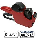 Preisauszeichner Jolly für 26x12mm Etiketten JC6 6-stellig rot für Datum und Preis
