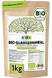 Bio Guarkernmehl Guar Gum 1000g Bio Guarkern Mehl aus kontrolliertem Anbau Guarkernmehl E412 Glutenfrei Bindemittel Verdickungsmittel