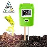 Sinicyder 3-in-1 Bodentester, Boden Feuchtigkeit Meter/Boden-pH-Messgerät, Feuchtigkeit/Sonnenlicht/PH-Tester für Bauernhof, Pflanzenerde, Rasen, Garten, Kein Batterien Erforderlich (Nur für Boden)