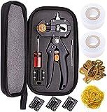 RZiioo Pfropfwerkzeug-Set, Gartenscheren-Scherschere Snip-Pfropfwerkzeug-Kit, professionelle Gartenpfropfwerkzeuge mit Omega-Cut U-Cut V-Cut Ω