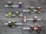 Kamoro HOME & KITCHEN Gewürzregal ohne Bohren Clips - Gewürz Organizer zum Kleben - 6 Streifen für 30 Gewürze (Weiß)