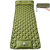Isomatte Camping Selbstaufblasbare mit Fußpresse Pumpe - Ultraleichte Aufblasbare Schlafmatte wasserdichte Größer 200 * 70 * 5.5cm Matratze - Kompakte Luftmatratze für Camping Outdoor Wandern