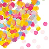 Oblique-Unique® Papier Konfetti Bunt Tisch Deko Streu Dekoration für Geburtstag Feier Party Hochzeit JGA Jubiläum