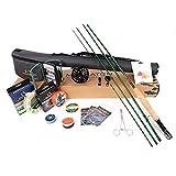 Maximumcatch Maxcatch Premier Fliegenfischen Rute und Rolle Combo komplete 9' Fliegenfischen Outfit Ausrüstung (3wt -9' Half-Handgriff Rute, 3/4 Rolle)