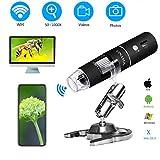 YINAMA WiFi Mikroskop, 50x-1000x Vergrößerung Mikroskop Kamera, 8 LED-Leuchte Mini-Handmikroskop, 1080P 2MP, kompatibel mit Android, iPad, PC, MAC und Windows