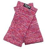 EEM Damen Strick Wollstulpe Pulswärmer MAYA-BW mit Thinsulate Thermofutter aus Polyester, aus 100% Baumwolle pink mix Onesize