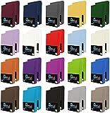 NatureMark 2er Pack Jersey Spannbettlaken, Spannbetttuch 100% Baumwolle in vielen Größen und Farben MARKENQUALITÄT ÖKOTEX Standard 100 | 90 x 200 cm - 100 x 200 cm - Silber grau